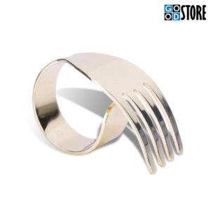 Salvrätiku hoidja, lauakaunistus - Kuldne kahvel