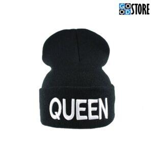 """""""QUEEN"""" Hip-Hop kootud suusamüts, must"""