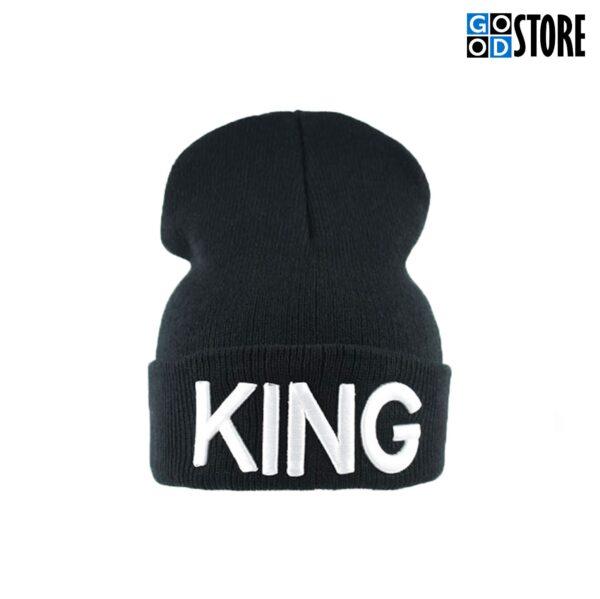 """""""KING"""" Hip-Hop kootud suusamüts, must"""