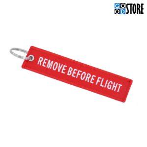 """Punane """"Remove Before Flight"""" võtmehoidja"""