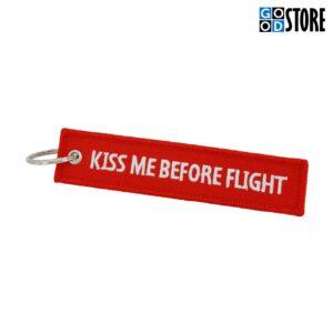 "Punane ""Kiss Me Before Flight"" võtmehoidja"