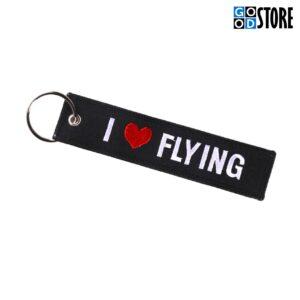 """Must """"I Love Flying"""" võtmehoidja"""