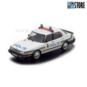 SAAB 900i Klassik Sedaan Rootsi Politsei M1987 1:43 skaalas