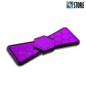 Kärjekujuliste elementidega luksuslik kikilips, violetne läikiv