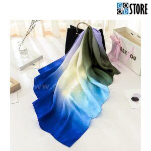 Naiste siidist rätik, ruudukujuline 90 x 90cm