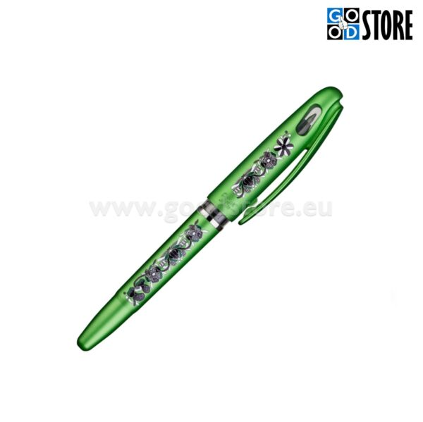 Eesti rahvusmustriga Geel pastapliiats, roheline korpus