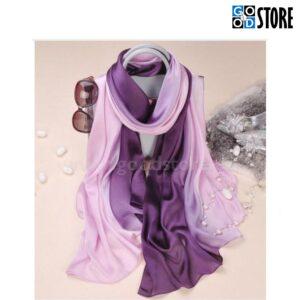 Naiste siidist rätik, 180 x 90cm, kahevärviline