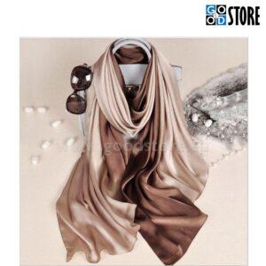 Naiste siidist rätik, 180 x 90cm, beežides toonides