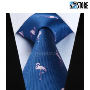 Luksusliku lipsu komplekt, navi sinine tikitud flamingodega