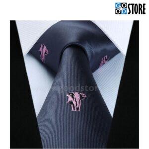 Esinduslik lipsu komplekt, tikitud elevantidega