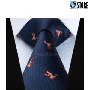 Soliidne lipsu komplekt, tikitud lindudega