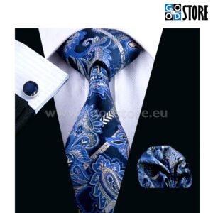 Elegantne lipsu komplekt, kuninglik sinine ja must