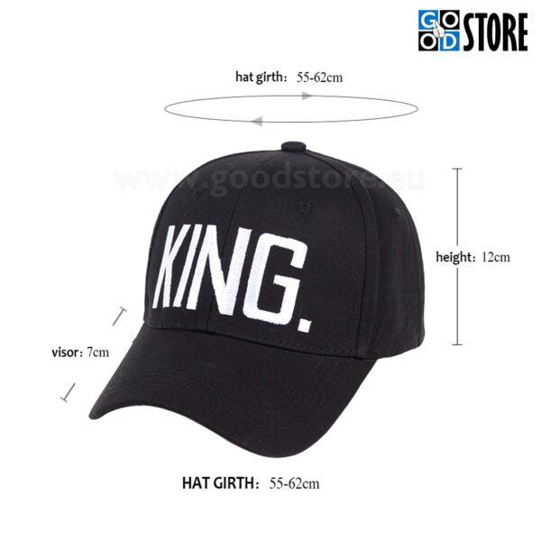 """""""KING"""" tikandiga nokatsmüts, must"""