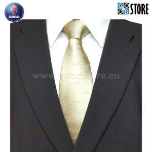 Eksklusiivne seotav lips, autoteemaline (SAAB) kinkekarbis, šampanja beež