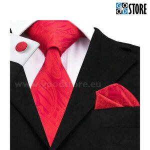 Eksklusiivne seotava lipsu komplekt, särav punane