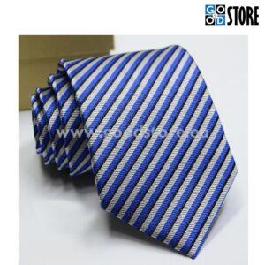 Eksklusiivne seotav lips, särav sinine-must-valge